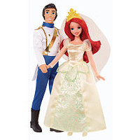 Disney Princess Ariel and Prince Eric Wedding Pair