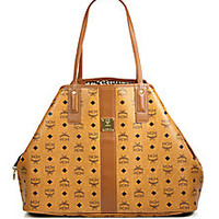 MCM - Liz Reversible Canvas & Leather Shopper Bag - Saks Fifth Avenue Mobile