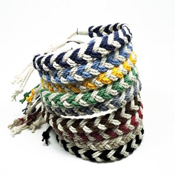 Adjustable Woven Chevron Bracelet, choose from 17 colors