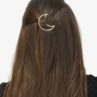 Gold Moon Hair Barrette