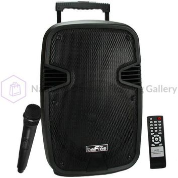 beFree Sound 10 Bluetooth Portable Speaker with USB/SD FM Radio and Lights