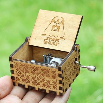 Star Wars Force Episode 1 2 3 4 5 18 Style  Music Box  The Godfather Wooden Hand Crank Theme Music A Birthday Present A Christmas Gift AT_72_6