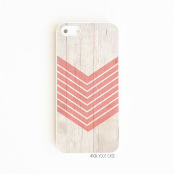 iPhone 5 / iPhone 5S Case Wood Geometric Coral by onyourcasestore