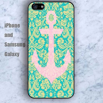 Anchor pink Anchor pattern iPhone 5/5S case Ipod Silicone plastic Phone cover Waterproof