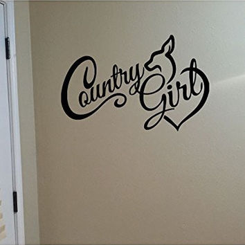 Country Girl Vinyl Wall Words Decal Sticker Graphic