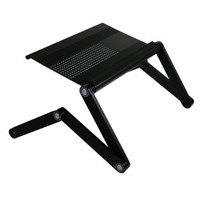 """Furinno Adjustable Vented Laptop Table Laptop Computer Desk Portable Bed Tray Book Stand Multifuctional & Ergonomics Design Dual Layer Tabletop up to 17"""""""