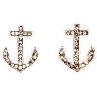 Baby Anchor Button Earring | Shop Jewelry at Wet Seal