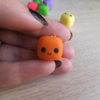 SINGLE kawaii cube fruit handmade polymer clay by ImperfectArts