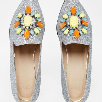 ASOS METAPHOR Embellished Flat Shoes