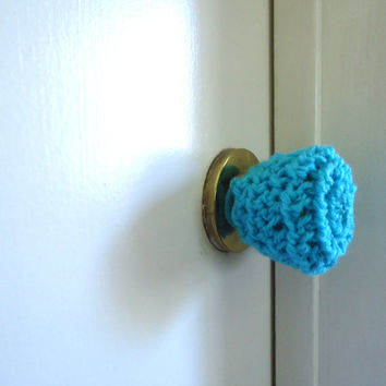 3 Crochet door knob cover, child safety cover, crochet accessories, crochet housewares, home decor, door knob, christmas gifts