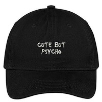 Cute But Psycho Small Embroidered Adjustable Cotton Cap