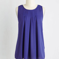 Mid-length Sleeveless Steadfast Class Top in Indigo