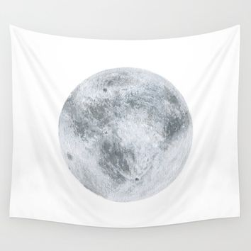 Full moon Wall Tapestry by sonoeillustration