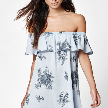 LA Hearts Off-The-Shoulder Embroidered Dress at PacSun.com