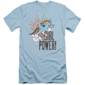 My Little Pony Slim Fit T-Shirt Girl Power Light Blue Tee