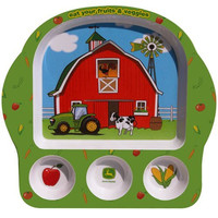 Motorhead Products John Deere Eat Your Veggies Kid's Plate