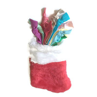 Christmas Stocking Filled with Hair Ties - Girls, Women's Hair Tie Gift Set - Christmas Stocking Hair Accessories - Wrapped Hair Tie Gift