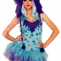 Leg Avenue Polka Dotty XS Sexy Halloween Costume Furry Monster Cosplay Hood Hat