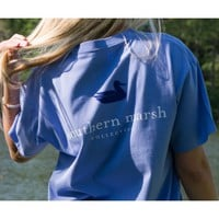 Authentic Tee in Lilac by Southern Marsh