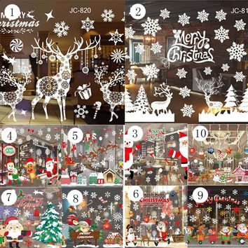 Christmas Wall Stickers Window Decoration Christmas Decorations Wall Decoration Home Decoration Hot Sale