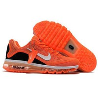 NIKE Airmax Fashion Unisex Personality Running Sport Shoes Sneakers Orange I
