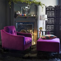 Dream Velvet Footstool, Sofas & Armchairs | Graham and Green Furniture