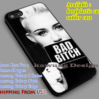 Bad Bitch Miley Cyrus iPhone 6s 5s 6s+ 5c Cases Samsung Galaxy s5 s6 Edge+ NOTE 5 4 3 #music #mc dl4