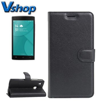 For DOOGEE X5 MAX / MAX Pro Litchi Texture Horizontal Flip Leather Smartphone Case Magnetic Buckle Holder Card Slots Wallet