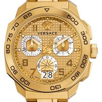 Men's Versace 'Dylos' Chronograph Bracelet Watch, 44mm