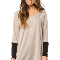 Katrine Sweater in Taupe - ShopSosie.com