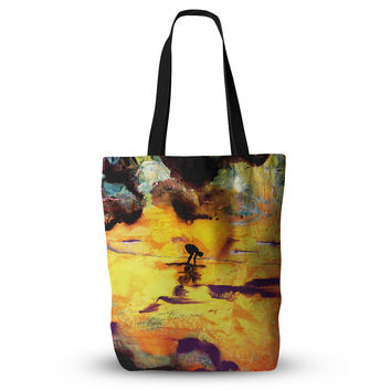 """Josh Serafin """"Pool of Life"""" Yellow Abstract Everything Tote Bag"""
