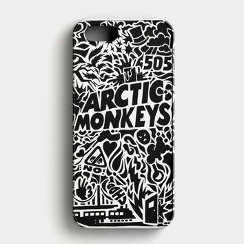Arctic Monkeys Band Logo And Photo iPhone SE Case