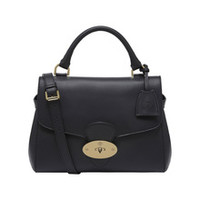 Primrose in Black Polished Calf | Women's Bags | Mulberry