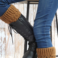 Brown Boot Cuffs - Toffee Brown Boot Socks - Winter Accessory - Jeans Accessory - Brown Fashion Accessory - Brown Boot Toppers