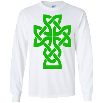 Irish Celtic Cross. Hoodie, Sweat Shirt, Long Sleeve