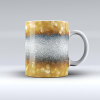 The Gold and Silver Unfocused Orbs of Glowing Light ink-Fuzed Ceramic Coffee Mug
