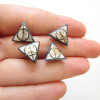 2x1  second pair of earrings for FREE Harry Potter Deathly Hallows Sparkling Handmade Earrings