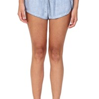 Faded Blue Track Shorts at Blush Boutique Miami - ShopBlush.com : Blush Boutique Miami – ShopBlush.com