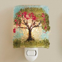 Autumn Tree Recycled Glass Nightlight - VivaTerra