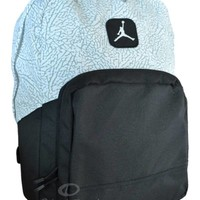 Nike Air Jordan Backpack Black Gray Elephant School Book Bag Men Women Boys Girl