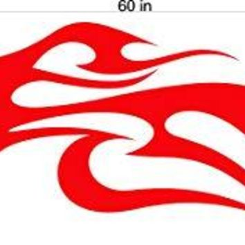Auto Truck Car Boat Side Flames Tribal Decal Sticker  TF032