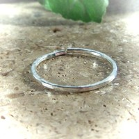 Toe Ring Silver Hammered Adjustable