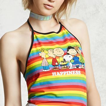 Peanuts Graphic Halter Top