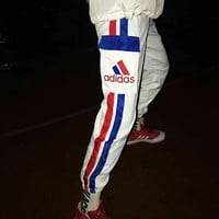 Aaidas New style Red and blue stripes trousers  C-A-HRWM  White