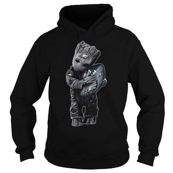 Baby Groot Hug Philadelphia Eagles Football NFL Hoodie 0a288804f