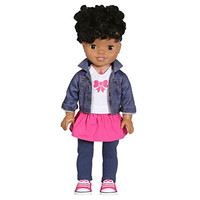 "African American 18"" Smart Interactive Realistic Talking Baby Doll"