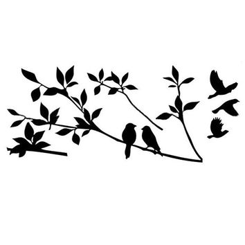 2015 Home Decoration Diy Creative Tree Branch Black Bird Art  Vinyl Wall Decal Removable Planner  Vinyl Wall Stickers