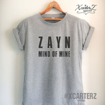 Zayn Shirt ZAYN Mind of Mine T-Shirt Men Women Unisex Tumblr T-Shirt White/Black/Grey/Red