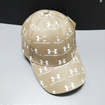 """Under Armour"" Fashionable Women Men Sports Sun Hat Baseball Cap Hat Khaki"