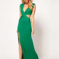 Love Cut Out Maxi Dress with Thigh Split at asos.com